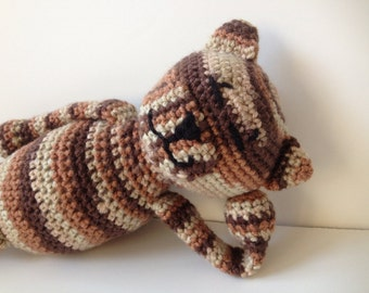 Amineko Crochet Cat Brown Tabby  Amigurumi