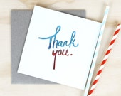 """Recycled Paper Card """"Thank You"""""""