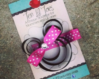 Minnie Mouse inspired hair clip - Minnie Mouse Bow - Minnie Mouse Sculpture Ribbon - Mickey Mouse