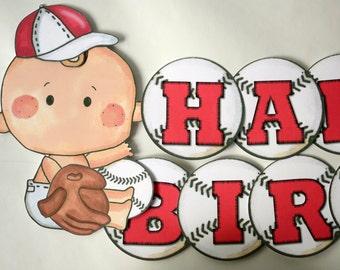 Baseball Baby Shower BANNER, Baseball 1st Birthday Party, Baseball First Birthday Decorations