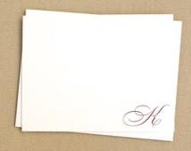 Personalized Handmade Stationery Set with Monogram / Custom Stationary with Elegant Script Initial