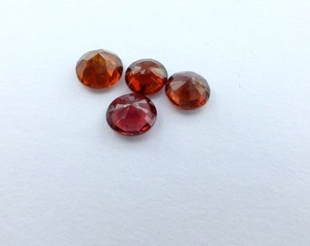 Spinel. Natural. Red  Round Micro facet Native Cut. 4 pcs. 1.94 cts. 5 mm (SP176)