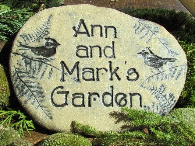 Custom Garden Stones Personalized Outdoor Garden By Poemstones