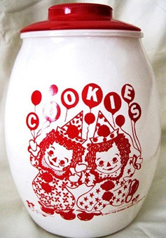 Raggedy Ann Andy Vintage Cookie Jar Clowns 1977 By