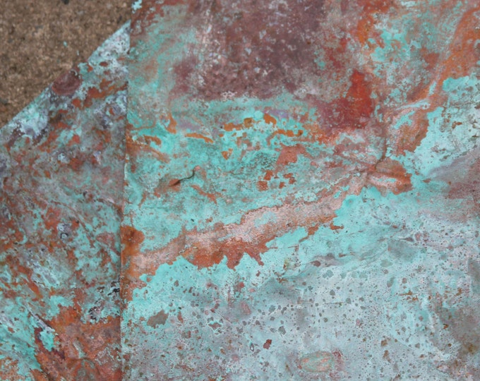 8x10 Copper Sheeting - Wonderful Green / Blue Patina,copper Sheet, Copper, Aged Copper, Metal Craft, Copper Sheet Metal, Aged Metal, Blue G