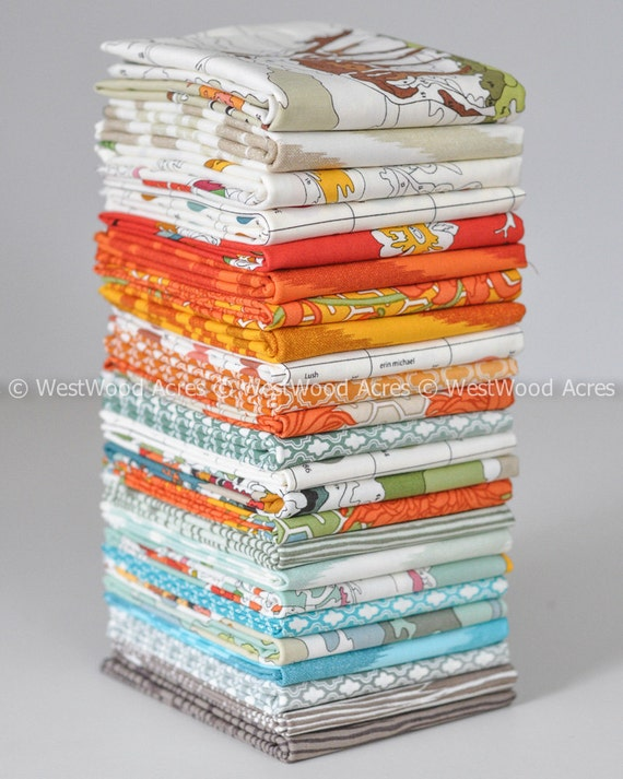 Lush Uptown by Erin Michaels for Moda Fabrics 24 Fat Quarter Bundle COMPLETE