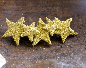 5 star GOLD pure german glass glitter headband hair clip hair piece for children or adults can be made in other colors too