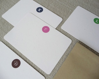 Monogram Flat Note Cards