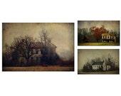 Farmhouse set, rustic home decor, ranch home, rural landscape, country, autumn photo, texture photograph, photo set, rust, neutral colors