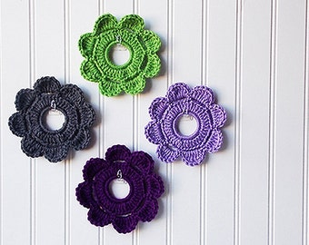 Decorative Crochet Mini Wreaths Wall Hangings & Picture Frames - Frankenstein