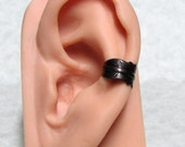 Steampunk Raven Feather Ear Cuff