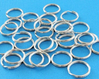 Split Rings 16mm - High Quality Platinum color x 50 - J33