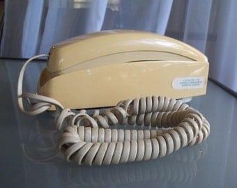 Wall-Mounted Telephone, Cream Yellow, Vintage Telephone, Prop