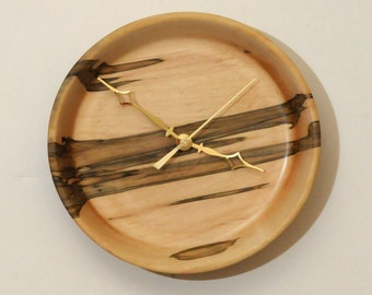 Ambrosia Maple Turned Wood Wall Clock