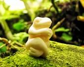 Little Bali Zen Frog Carved Bone Bead
