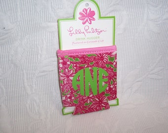 Lilly Pulitzer Monogrammed Drink Hugger CORONADO CRAB Gift Wrapped