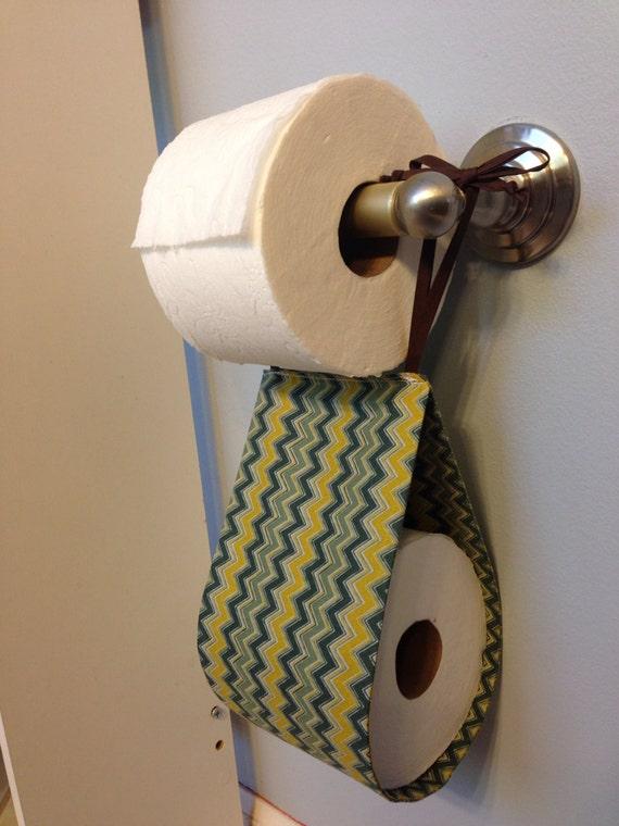 Ready To Ship Chevron Spare Toilet Paper Holder