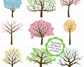 Tree Silhouettes Photoshop Brushes, Tree Photoshop Brushes - Commercial and Personal Use