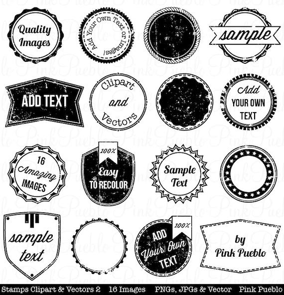 stamps 2 clipart clip art vintage postage badge label frame etsy