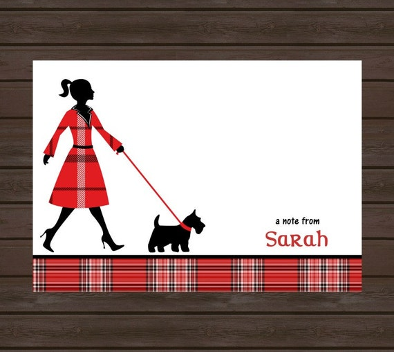 Dog Card/Personalized Note Card for the dog lover/ Stationery/Boxed  Set of 10 Cards