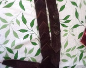 RESERVED Leather Wand Holster with Scale Motif