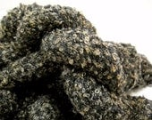 Vintage Boucle Yarn, 3 Skeins Black Yarn, Knitting Notions, Crochet Supplies, Mystery yarn, Y122