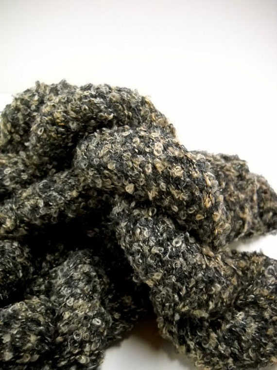 Boucle Yarn : Vintage Boucle Yarn, 3 Skeins Black Yarn, Knitting Notions, Crochet ...