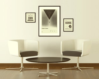 ENDER'S GAME Inspired Posters, Art Print Movie Series - 12 x 18, Minimalist, Graphic, Vintage Style, Retro Home