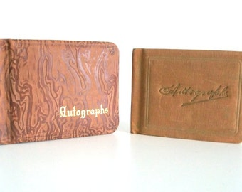 Two Antique Autograph/Friendship Books, Paper Ephemera Collectible