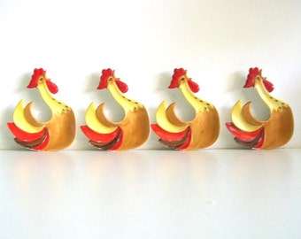 Howard Holt Coq Rooster Small Dishes 1960