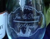 50 Years 25 Years 10 Years Anniversary Wine Stemless Glass Wedding Bride Groom Anniversary Date Toast Yearly Anniversary 16+ ounces Set of 2