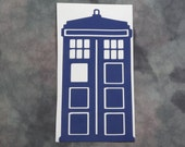 Blue Tardis Decal Police Call Box Wall Vinyl