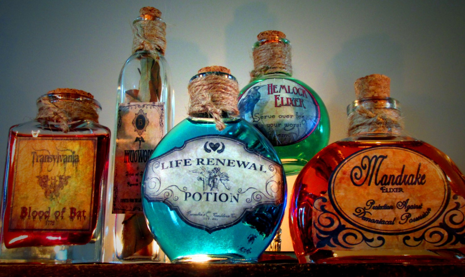 Magical Halloween Potion Bottles — Crafthubs