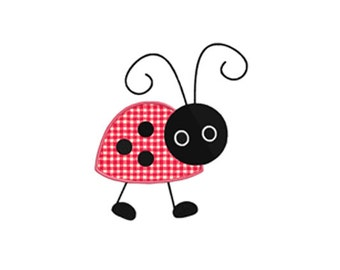 Walking Ladybug APPLIQUE Machine Embroidery Designs