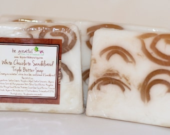 White Chocolate and Sandalwood Glycerin Soap
