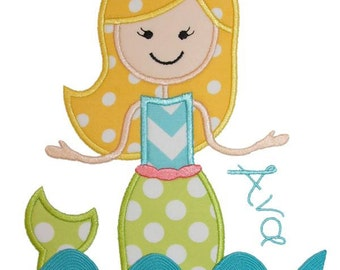 Mermaid Applique Design