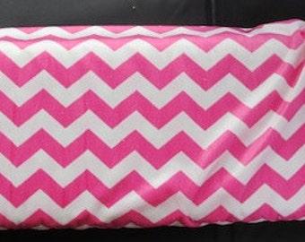 Riley Blake Medium Chevron Hot Pink Dreamy - Minky - D320 - 70