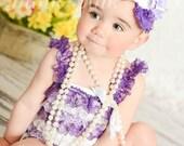 Petti lace romper,Baby girl Petti Romper, Purple  Romper, Lace Romper, Romper, Bubble Romper,Baby lace romper.