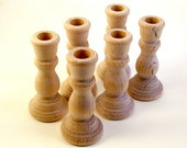 2 Wooden Candle Holder Candlestick Unfinished