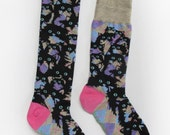 Crazy Kitty Socks. Mens and Women's sizes