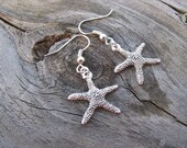 Starfish Earrings- Antique Silver
