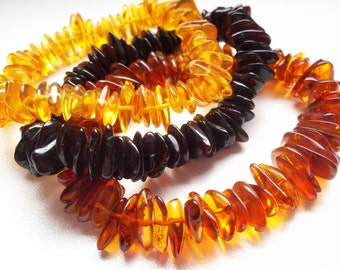 Set of 3 BALTIC  AMBER  BRACELETS    7.1 inches.
