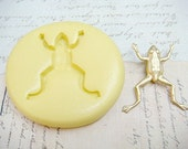 LEAPING FROG - Flexible Silicone Mold - Push Mold, Polymer Clay, Resin Mold, Pmc Mold, Food Mold, Clay Mold