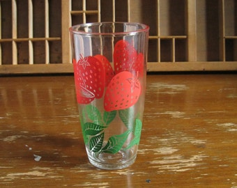 Vintage Strawberry Pint Glass