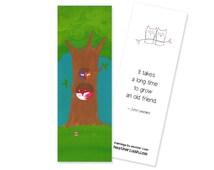 "Fox & Owls Bookmark - ""Friendship Tree"""