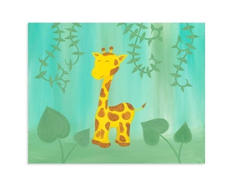 Giraffe Nursery Art Print ~ Original Painting
