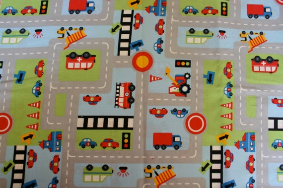 Fabric Roads For Toy Cars : Car road fabric fat quarter cm cotton