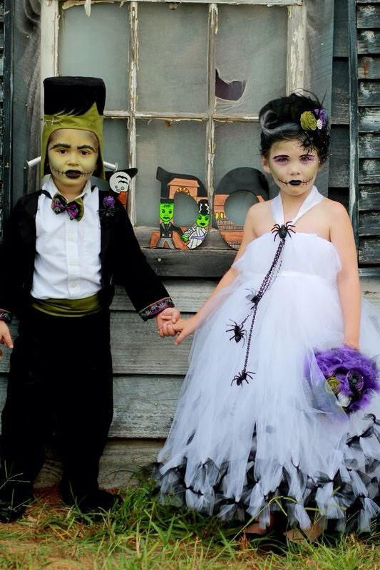 Kids Halloween Costume Bride of Frankenstein Tutu by atutudes
