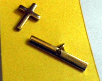 gold CROSS tie tac