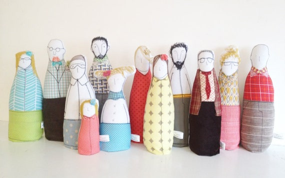 Reserved for Natalya -   Private order - Extended Family Portrait - Four Generations - by timo handmade